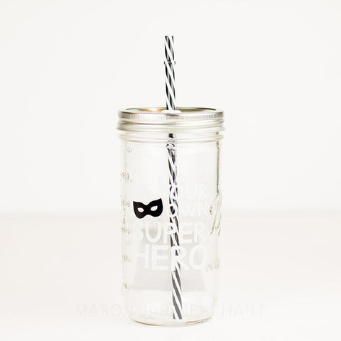 'Coco Chanel' Drinking Jar