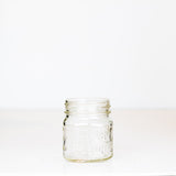 Atlas Mason Half Pint Jar on white background - fits any regular mouth lid
