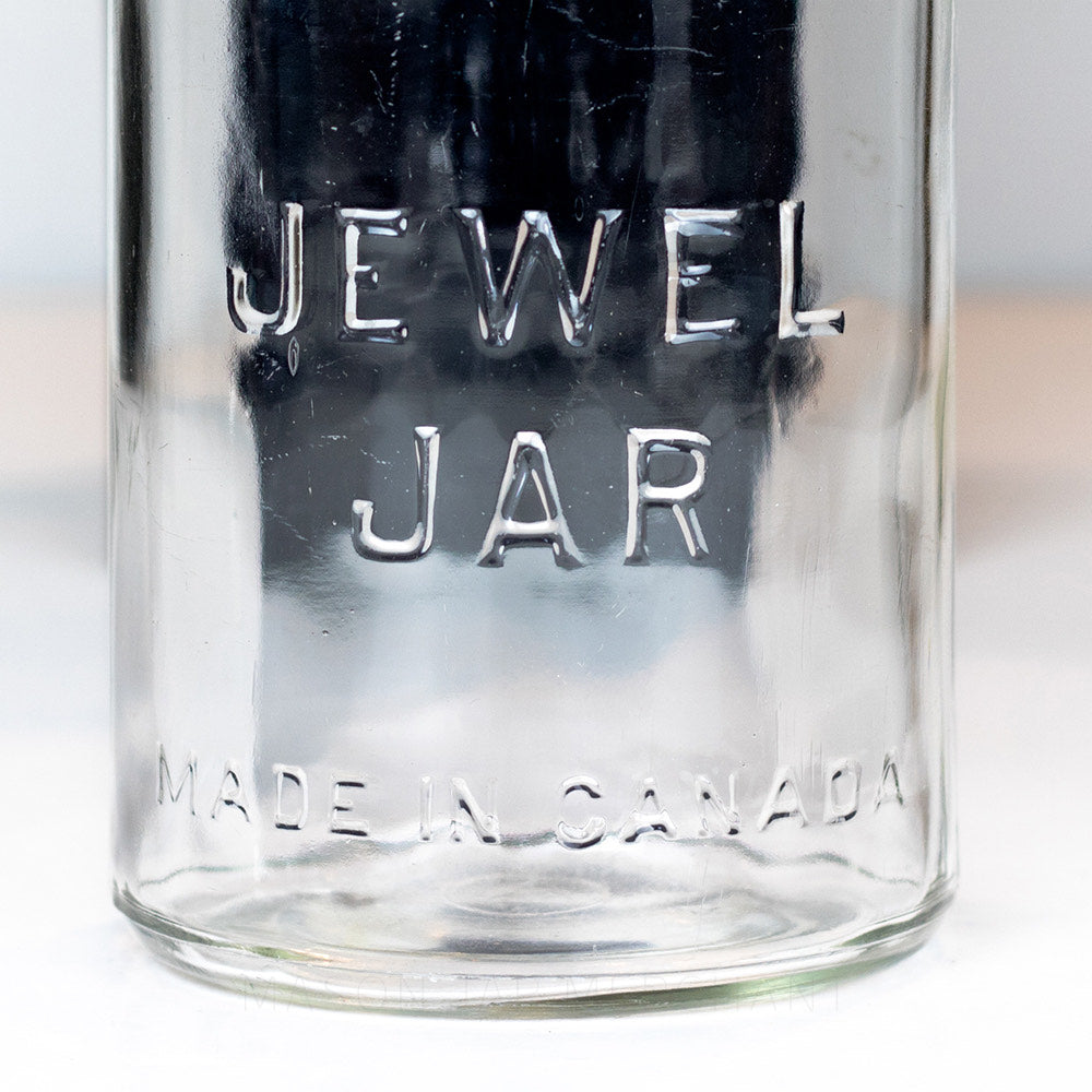 Super Rare, Incredibly Heavy JEWEL JAR Gem Mouth Quart - early 1900's