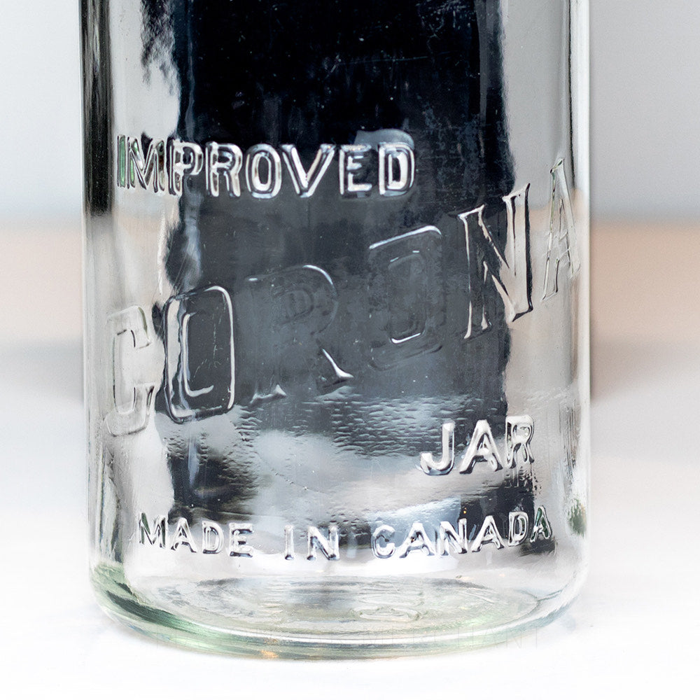 Improved Corona Jar - Made In Canada - Gem Quart
