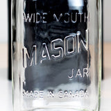 'Wide Mouth - Made in Canada' (1960's / Square) Quart
