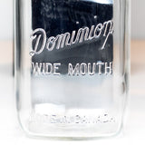 Dominon 'dropped N' Square Body Wide Mouth Quart