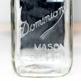 Dominion Underlined Square Body Wide Mouth Quart