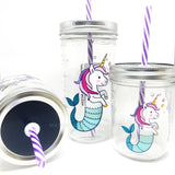 'Unicorn Mermaid' Mason Jar Tumbler