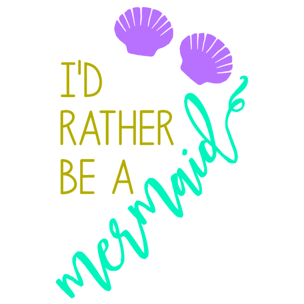 'I'd Rather Be A Mermaid' Drinking Jar {Ocean/Grape}
