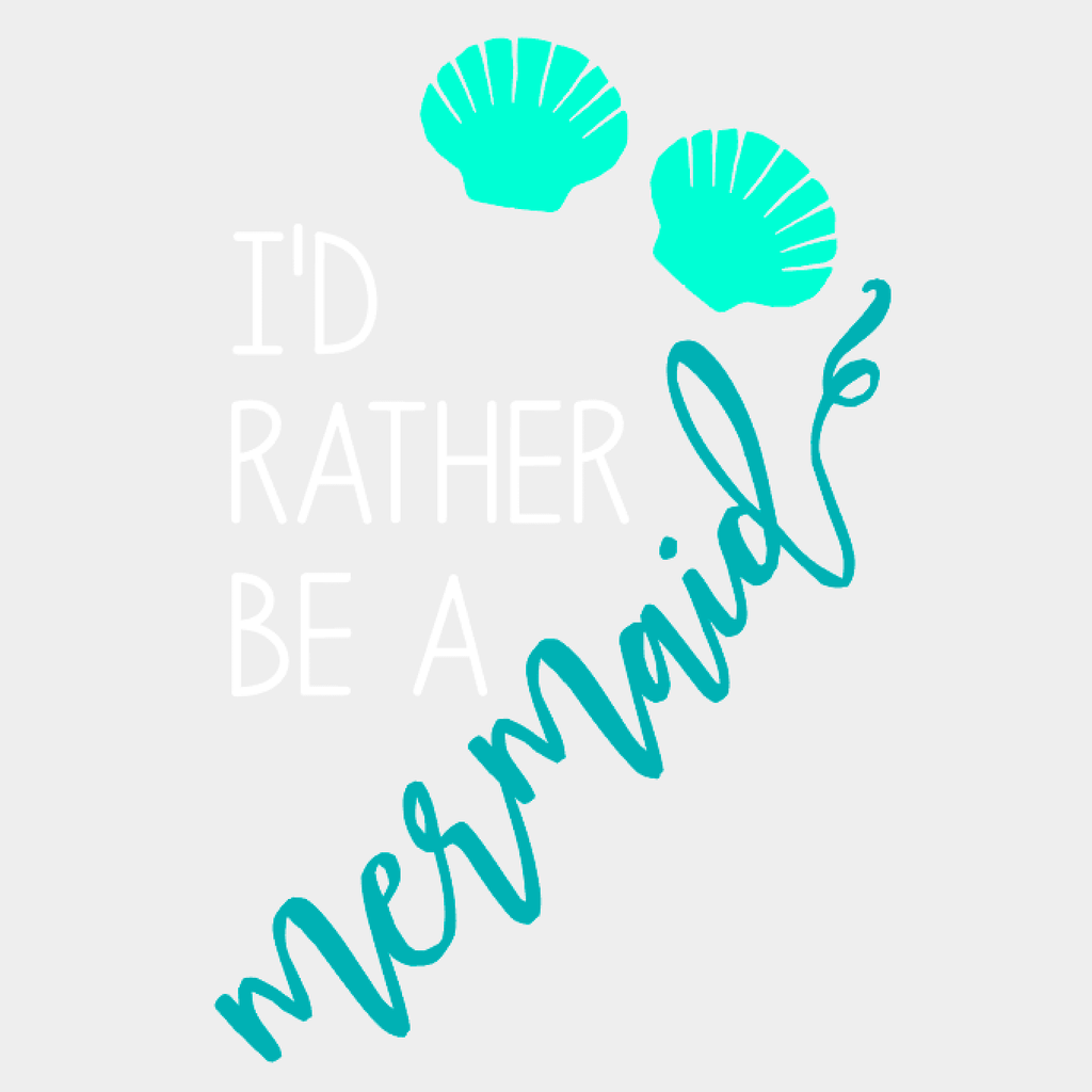 'I'd Rather Be A Mermaid' Drinking Jar {Seafoam/Ocean}