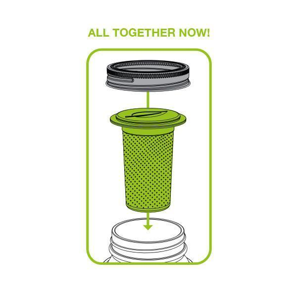 'Jarware' - Mason Jar Tea Infuser Lid (Regular Mouth)