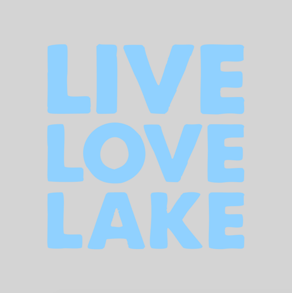 'LIVE LOVE LAKE' Mason Jar Tumbler