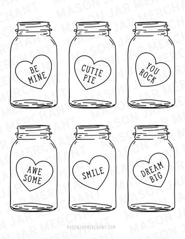 graphic regarding Printable Mason Jar named Printable Mason Jar Valentines .SVG Mason Jar Service provider