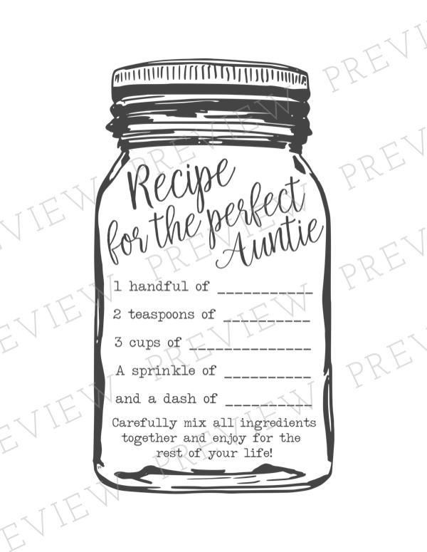 Recipe for the Perfect Mom - Print & Cut Files