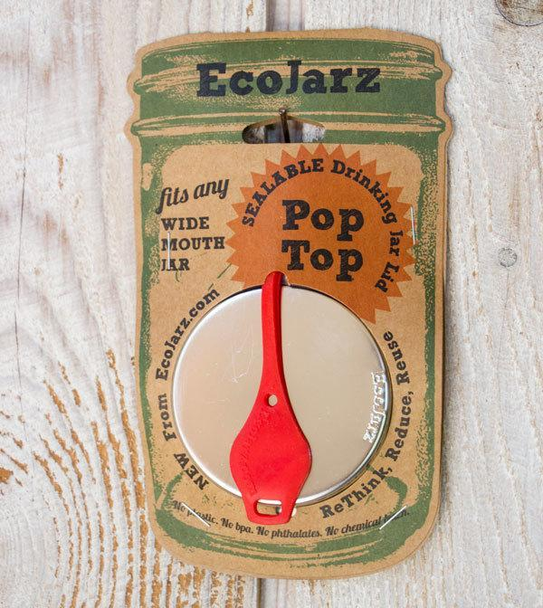 'PopTop' - Mason Jar Drink Lid (Wide Mouth)