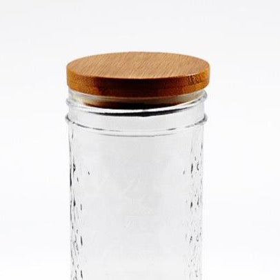 'Classic Bamboo Stopper' - Solid Bamboo Mason Jar Lid