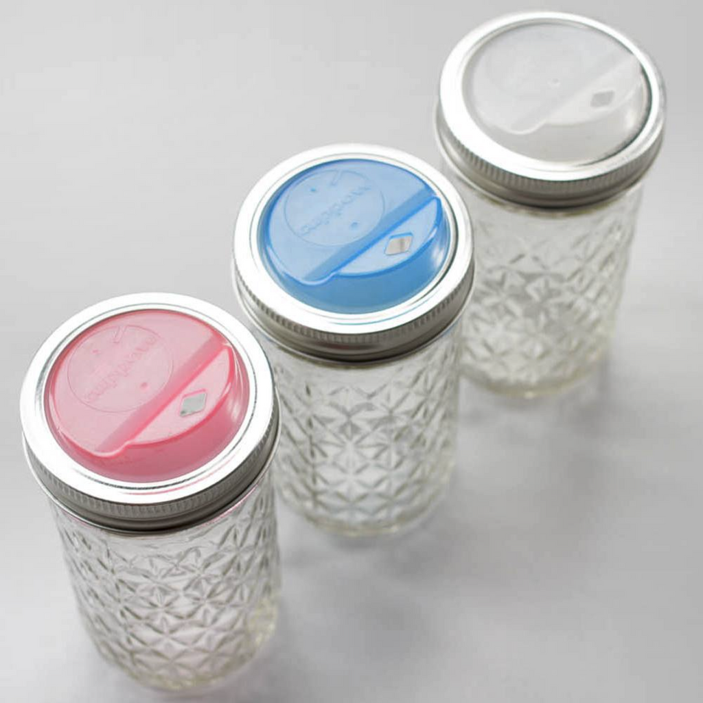 'Cuppow' - Mason Jar Drink Lid (Regular Mouth)