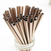 8.5 inch straight rose gold stainless steel reusable straw