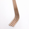 8 inch bent rose gold stainless steel reusable straw