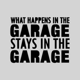 'What Happens In The Garage...' Mason Jar Tumbler