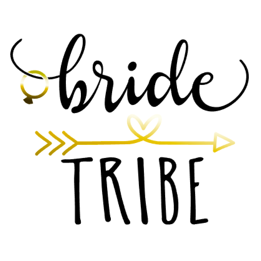Bride Tribe graphic in black and gold