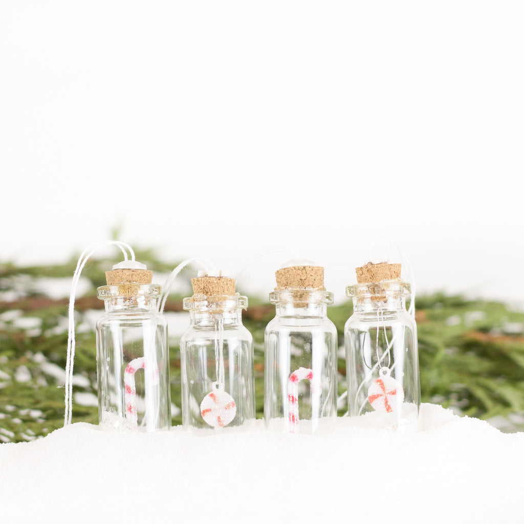 Bottle Ornaments - Sm - Peppermint Party