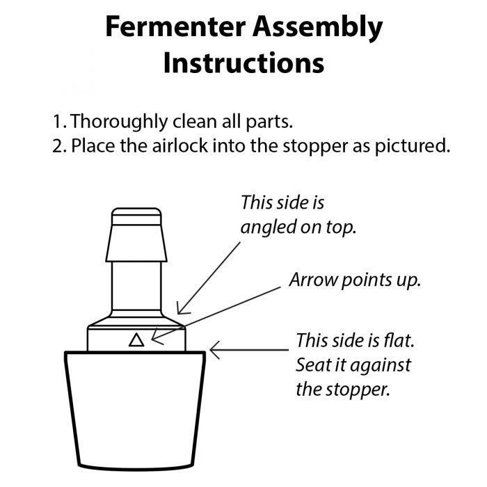 reCAP 'FERMENTER' - Waterless Airlock & Stopper (3 Pack)