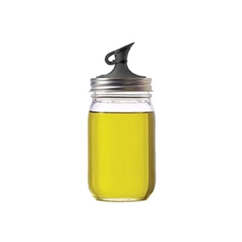 'Jarware' - Oil Cruet Mason Jar Lid (Regular Mouth)