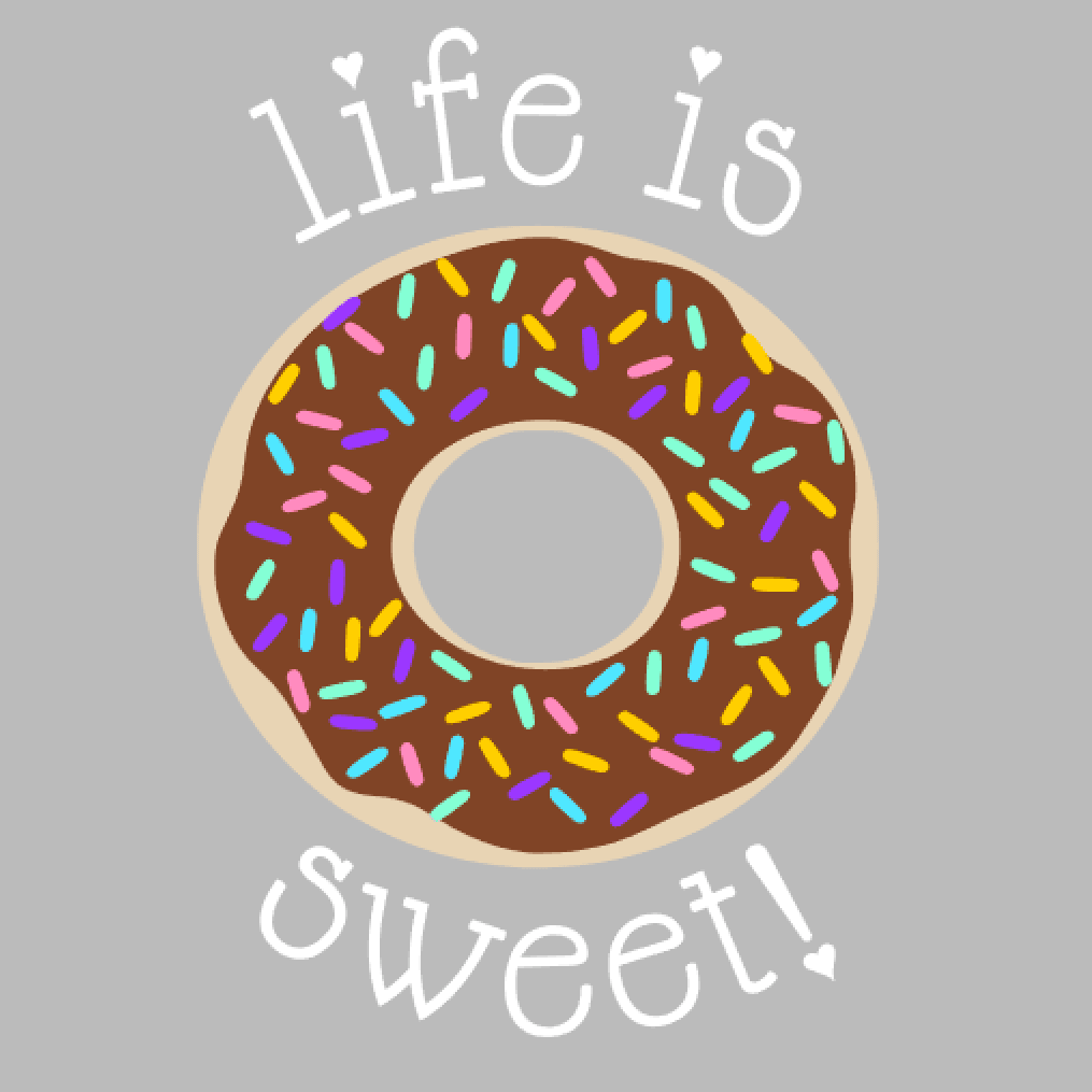 Donut Mason Jar Tumbler - Life is Sweet
