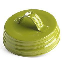 Olive Green Enamel Lid With Handle