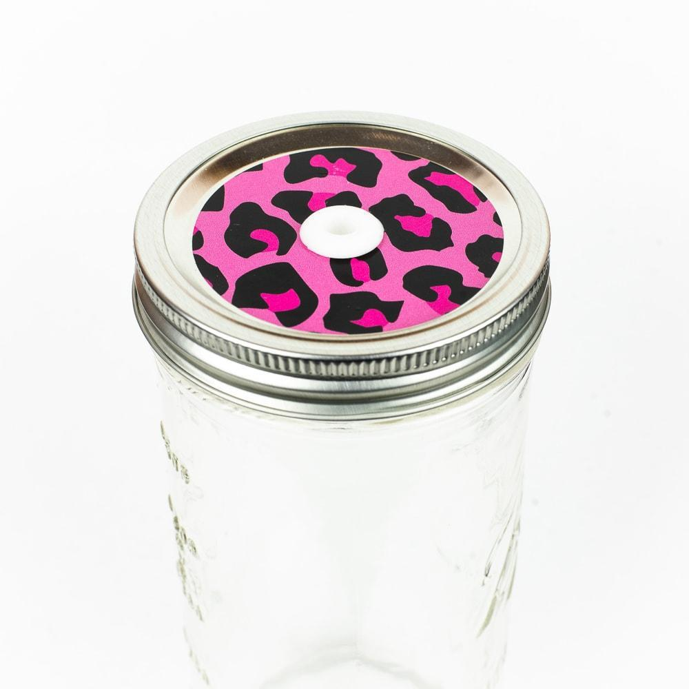 Patterned Mason Jar Straw Lid - Regular Mouth