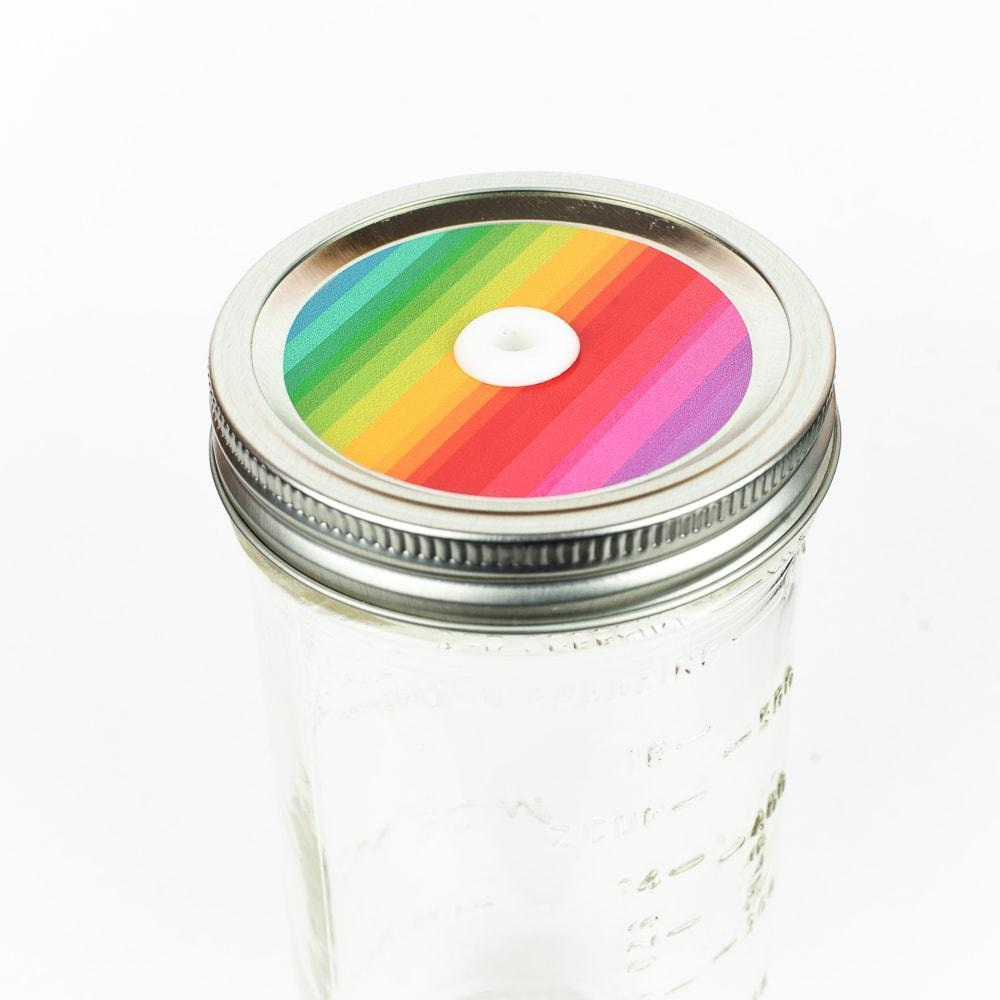 Patterned Mason Jar Straw Lids - Regular Mouth