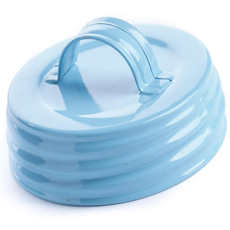 Baby Blue Enamel Lid With Handle
