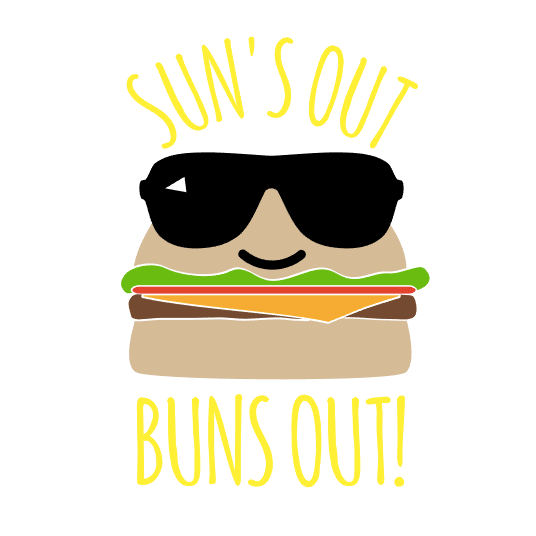 'Sun's Out Buns Out' (Burger) Mason Jar Tumbler