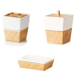 Bamboo Bathroom 3 Piece Accessory Set