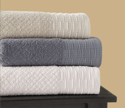 Argyle Linen Cotton Blend Towel Set