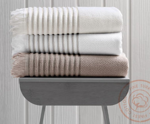Ribbed Turkish Cotton Towel Set