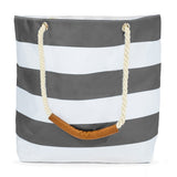 Oversize Stripe Beach Tote Bag