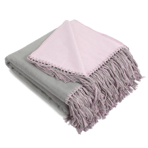 Brushed Bamboo Viscose Bi-Color Throw
