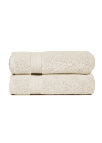 Zero Twist Towels, Ivory