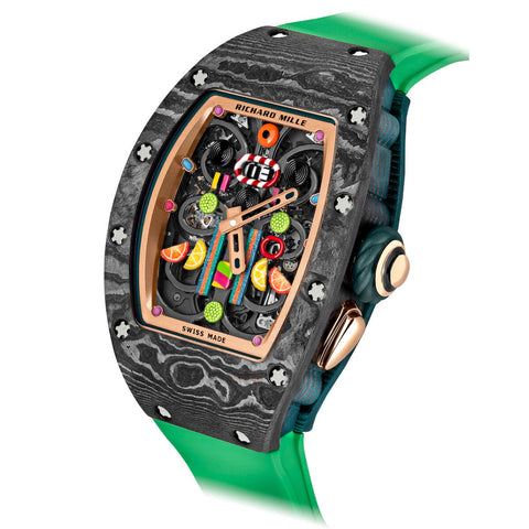 RM 37-01 KIWI Richard Mille bonbon watch collection - Sarasota Watch Company https://sarasotawatch.com