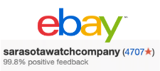 Sarasota watch company is a top rated seller on ebay. known for their wide variety of patek philippe and rolex watches