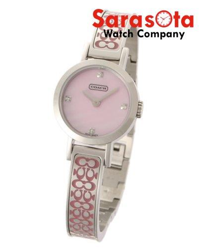 Coach 14500688 Pink Mother of Pearl Dial Bangle Steel Round Women's Watch