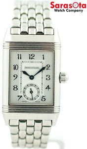 Jaeger-LeCoultre Reverso Duetto 256.8.75 Stainless Diamond Bezel Women's Watch