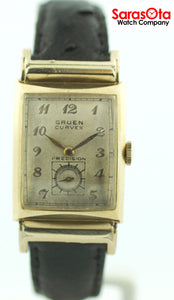 Vintage Gruen Curvex Precision 10K Gold Filled Hand Winding Dress Men's Watch