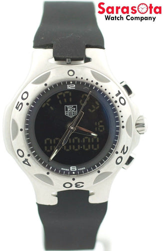 Tag Heuer Kirium CL111A Black Dial Chrono Rubber Ana/Digi Quartz Men's Watch