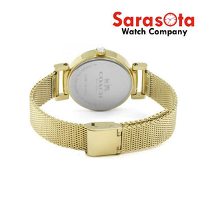 Coach 14502652 Madison Gold Mesh Stainless Steel 32mm Case Women's Watch
