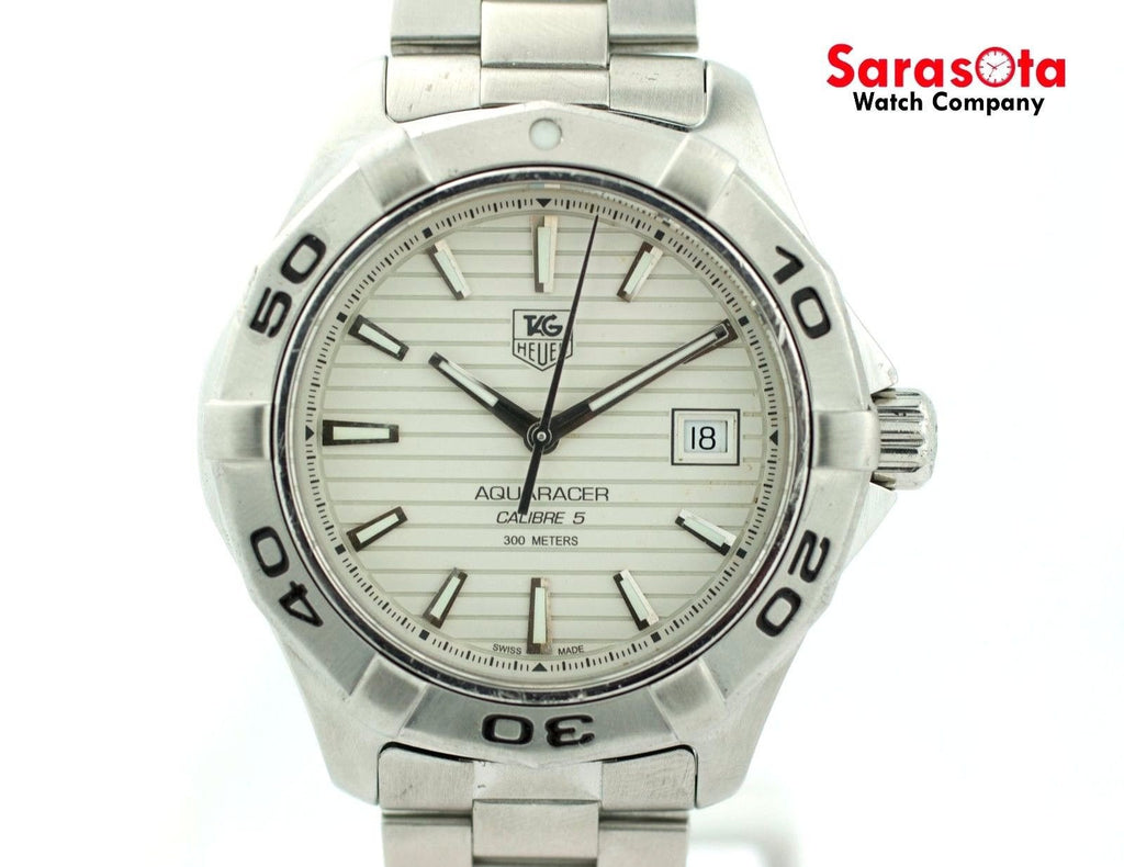 Tag Heuer Aquaracer Calibre 5 WAP2011 Stainless Steel Automatic Men's Watch - Sarasota Watch Company