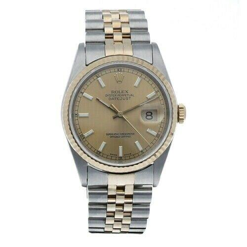 Rolex 16233 Datejust Champagne Dial Two Tone Jubilee 1990 Automatic Men's Watch - Sarasota Watch Company
