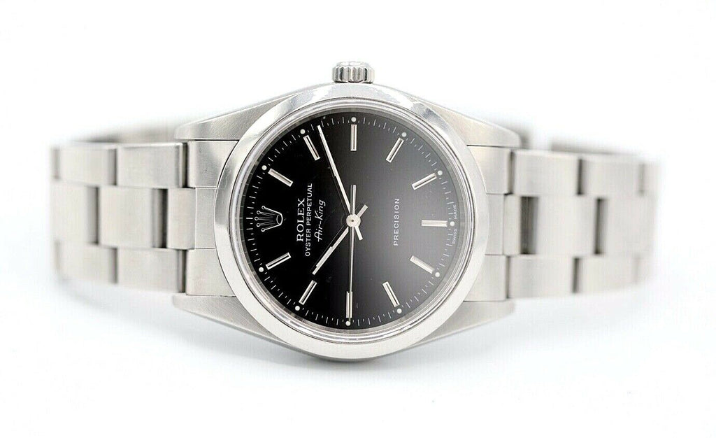 Rolex 14000 Air-King Precision Black Dial Stainless Steel Automatic Men's Watch - Sarasota Watch Company