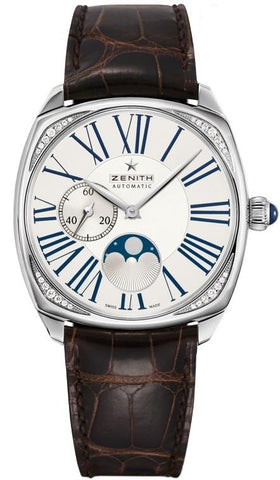 NEW Zenith Heritage Star 16.1925.692 Diamond Moonphase Automatic Wrist Watch