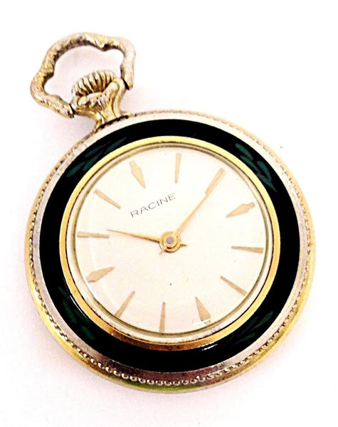 Vintage Racine Gallet & Co 17 Jewels Swiss Open Face Size 3/0 Pocket Watch