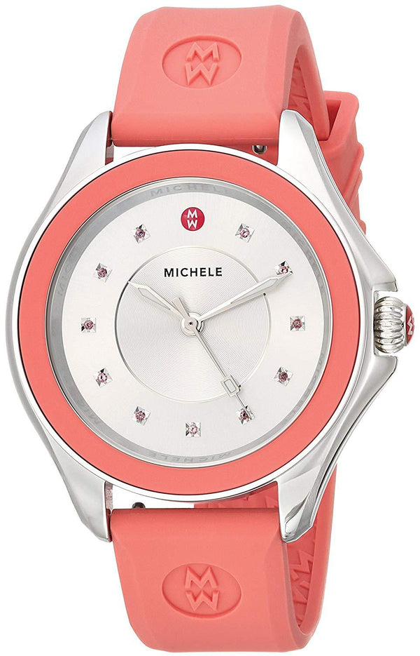 Michele MWW27A000015 Cape 40mm Pink Silicone Ladies Watch