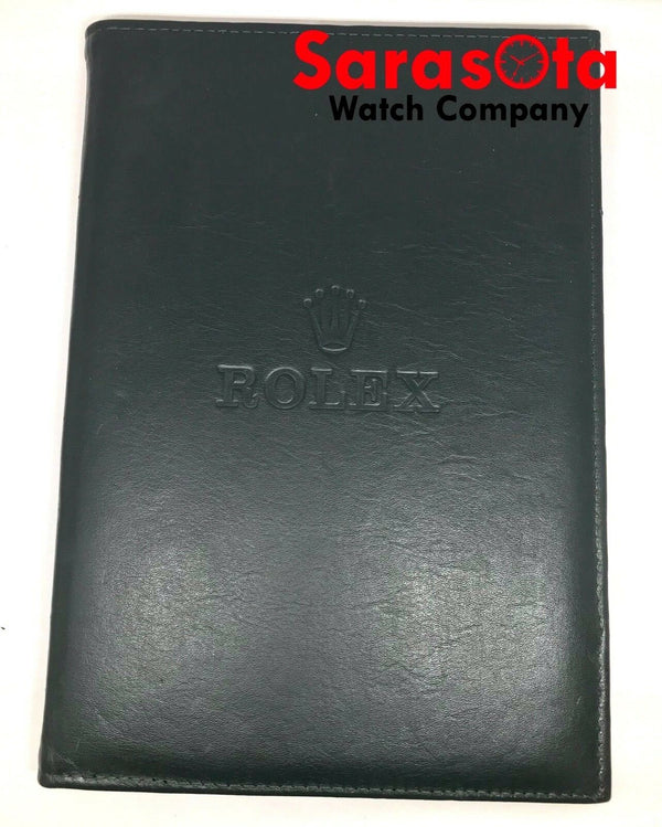"Vintage Rolex Folding Counter Dark Green Leather Suede Watch Pad 8.25"" x 12"""